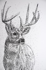 This one is done with a radiograph pen and India ink, and is executed in the pointillism style.