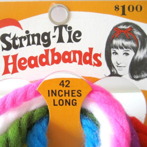 String tie head bands