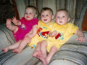 The Triplets: Sarah Michelle, Julia, and Robert