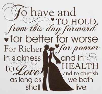 I Do Recall A Very Brief Conversation We Had With The Preacher Prior To Day He Asked You Want Traditional Vows Correct